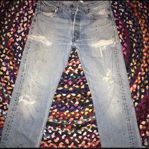 Levis worn denim jeans